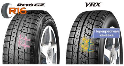 Bridgestone Blizzak VRX перекрестная конавка