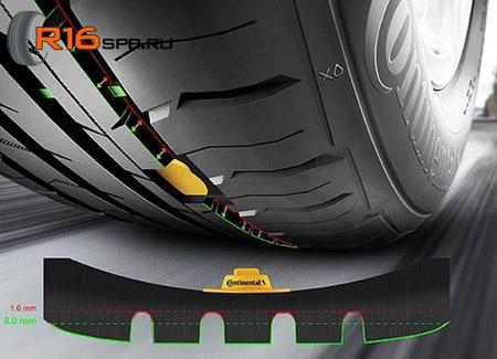 Continental технология электронной оценки глубины протектора