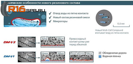 Bridgestone Blizzak DM-V2 - Технические особенности