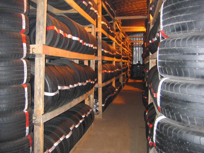 Хранение колес в СПб
