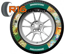 Шины Bridgestone теперь не только качественные, но яркие и красивые