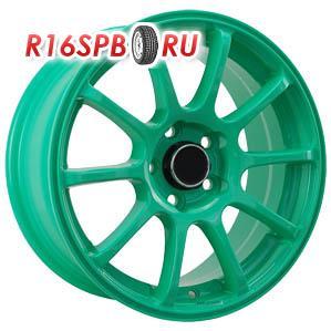 Литой диск 4Go 9039 6.5x15 4*100 ET 38 Green