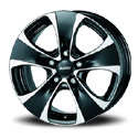 Alutec Dynamite 8.5x18 5*120 ET 45 dia 76.1 Diamond Black Front Polished