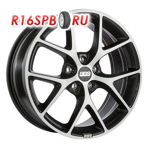 Литой диск BBS SR 7.5x17 5*100 ET 48 Matt Black Diamond Cut