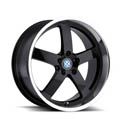 Beyern Rapp 8.5x18 5*120 ET 40 dia 72 Black Polished