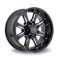 Black Rhino Sierra 9x20 5*150 ET 12 dia 110.1 Black Polished