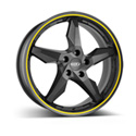 Dotz Touge 8x18 5*112 ET 35 dia 75 Graphite Matt