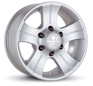 Литой диск Fondmetal 7100 Silver 7x15 5*139.7 ET -15