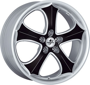 Литой диск Fondmetal 9GR Silver+Black plates