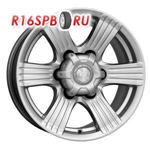 Литой диск КиК Невада 8x16 6*139.7 ET -15 блэк платинум