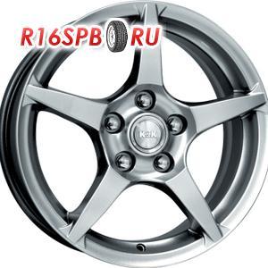 Литой диск КиК R1-Рольф 6x15 4*100 ET 48 блэк платинум