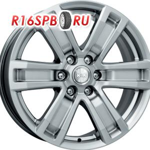 Литой диск КиК R7-Рольф 7.5x17 6*139.7 ET 25 блэк платинум
