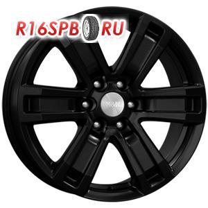 Литой диск КиК R7-Рольф 7x16 6*139.7 ET 38 чёрный аурум