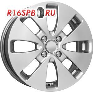 Литой диск КиК Рио (КС582) 6x15 4*100 ET 48 блэк платинум
