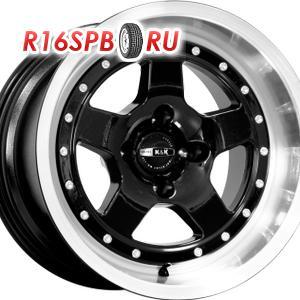 Литой диск КиК SportCar 10x15 4*98 ET -10 алмаз чёрный
