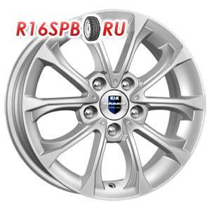 Литой диск КиК Urals 5.5x15 5*112 ET 50 блэк платинум