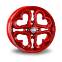LS Wheels 865 6x15 4*100 ET 45 dia 73.1 Red