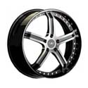 M&K MK-IX Status 9.5x22 5*130 ET 40 dia 71.6 Polished+Black Lip