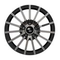 M&K MK-XL Avantgarde 9.5x22 5*130 ET 40 dia 71.6 Polished+Black Lip