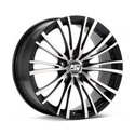 MSW 20/5 8x17 5*100 ET 35 dia 63.3 Black Full Polished