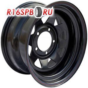 Штампованный диск Off-Road-Wheels УАЗ 8x16 5*139.7 ET -19 Black