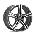 OZ Racing X5B 7.5x17 5*112 ET 50 dia 75 Matt Black