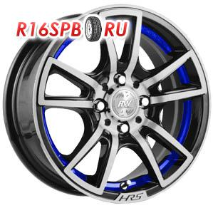 Литой диск Racing Wheels H-411 6.5x15 4*98 ET 40 BK-IBL F/P