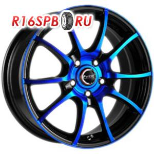 Литой диск Racing Wheels H-470 6x14 4*100 ET 38 BK-OBL/FP