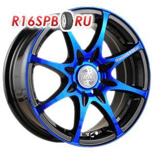 Литой диск Racing Wheels H-480 6.5x15 4*114.3 ET 38 BK-OBL/FP