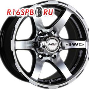 Литой диск Racing Wheels H-526 8x16 6*139.7 ET 0 BK/FP