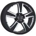Radius R15 SPORT 8x18 5*112 ET 30 dia 75 Black Polished
