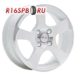 Литой диск Скад Акула 5.5x14 4*98 ET 35 алмаз белый