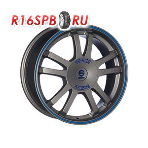 Литой диск Sparco Rally 7.5x17 5*100 ET 35 Matt Silver Tech + Blue Lip