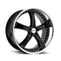 TSW Jarama 8x17 5*120 ET 35 dia 76 Black Polished