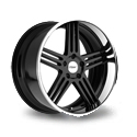 TSW Nouvelle 8x18 5*114.3 ET 35 dia 76 Black Chrome