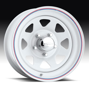 Штампованный диск U.S. Wheels Series 70 White 8 Spoke 10x15 6*139.7 ET -28